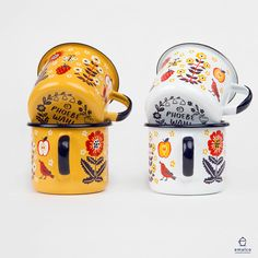 Fruit & Flower enamel mugs, coming soon to my shop! Stay tuned for a release date!