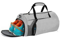 Personalized Cross Bats Gym Bag Black//Grey all about me company Small Colorblock Sport Duffel Bag