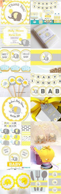 Chevron Yellow Baby Shower Ideas by Partymazing