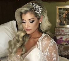 Weddingday glam for our stunning bride Caren! Crystal encrusted bridal headpiece by Bridal Styles Boutique. Weddingday glam for our stunning bride Caren! Crystal encrusted bridal headpiece by Bridal Styles Boutique. Bridal Hair Down, Veil Hair Down, Wedding Hair Down, Wedding Hair And Makeup, Wedding Veils, Veil Hairstyles, Wedding Hairstyles For Long Hair, Long Hair Wedding Styles, Long Hair Styles