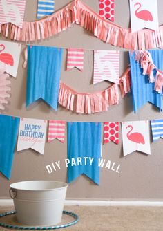Confetti Sunshine: Miss Flamingo : DIY party wall