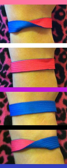 Etsy seller ForeverFolding hand-makes this gender-fluid bracelet out of ribbon. Reversible, with snaps. Turn the bracelet so it shows a color for your current gender. Ships only to USA from MI, USA. USD$5.