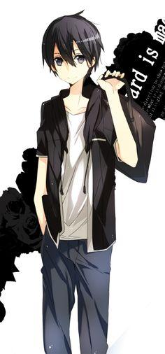 Kirito, what even 😍 Kirito Sword, Sword Art Online Kirito, Kirito Kirigaya, Kirito Asuna, Manga Anime, Anime Guys, Otaku Anime, Arte Online, Online Art