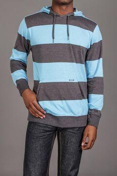 Ocean Current Sheen Hooded Sweatshirt