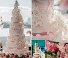 Bolo de casamento rosa | Bolo | Cake | Bolo de Casamento | Wedding Cake | Casamento | Wedding | Topo de Bolo | Detalhes | Details | Inesquecível Casamento