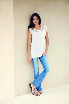 soyaconcept - top - blouse - lace - pants - jeans - denim - bohemain
