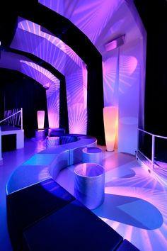 Outstanding Nightclub in Barcelona--i dig the contrast between the white/color…