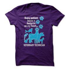 Every Patient Leaves A Footprint On My Heart... Veterin T Shirt, Hoodie, Sweatshirt