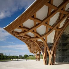 Shigeru Ban Architects - Annex to the Centre Pompidou - Metz, France Timber Architecture, Chinese Architecture, Amazing Architecture, Architecture Details, Ancient Architecture, Sustainable Architecture, Landscape Architecture, Shigeru Ban, Metz France