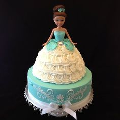 2 tier doll cake
