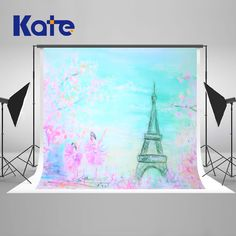 Kate Dreamlike Eiffel Tower Photo Studio Backgrounds For Baby Party Princess Backgrounds For Photo Studio Flowers Microfiber Castle Backdrop, Birthday Backdrop, Pink Photo, Newborn Baby Photography, Baby Party, Photography Backdrops, Princess Party, Photo Studio, Tower