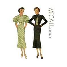 1930s Dress Pattern McCall 8583 Bust 34 Womens by CynicalGirl, $64.00