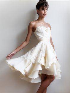 short #wedding reception dress