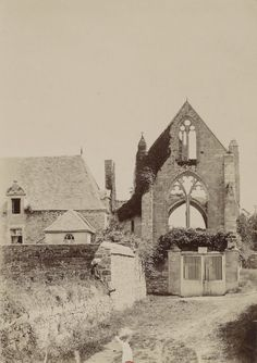 1895 - Ruines de Beauport. Photographe : Gabriel Cromer