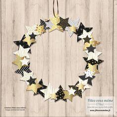 Couronne de Noël en papier qui peut aussi se transformer en guirlande pour le sapin de Noël ou en décor pour la maison. #bricolagemaison,materielbricolage,bricolagefacile,bricolagedecoration,bricolageàdomicile,bricolagejardin,petitbricolage,aidebricolage,idéebricolage,outillagebricolage,conseilbricolage