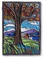 """From dickblick.com.  I totally want to try this using """"matte black metal sheet.""""  Apparently the relief work is done with colored pencils.  I've done repousse and chase projects  with copper metal and a higher gauge aluminum metal, but embossing with color looks cool."""