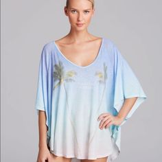 Wildfox Vacation Forever Butterfly Swim Cover Up In very good condition Wildfox Tops
