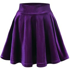 Urban CoCo Women's Vintage Velvet Stretchy Mini Flared Skater Skirt at... ($9.86) ❤ liked on Polyvore featuring skirts, mini skirts, circle skirt, purple mini skirt, flared skater skirt, stretch mini skirt and vintage skirts