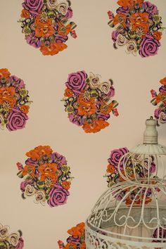 Occipinti - British Bouquet Wallpaper - Monument Interiors