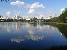 espelho do lago - parque ibirapuera - são paulo-sp - Brasil