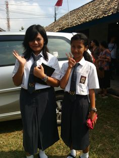 That's picture in church when i and she wanna back to home. But we still wear uniform school
