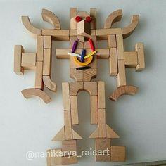 Awesome robot creation with #spielgaben... #robot#transformer#robotcreation#robotideas#homeschooling#learnandplay #playideas#creativity#creativitytoys#loverobots#montessory#invitationplay# 📷: @nanikarya_raisart
