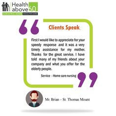See what our clients have to say. #Healthabove60 #PatientTestimonial