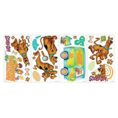 Scooby Doo Peel and Stick Wall Decals - RMK1696SCS