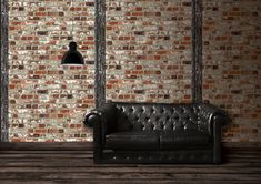 Wallpaper accent wall is a new trend and we at Designers Wallpaper have a solution - modern and stylish non-woven wallpaper from leading European designers for any taste and styles to choo Next Bedroom, Colors Of Fire, Love Decorations, Ryan Homes, Brick Wallpaper, Deco Design, Designer Wallpaper, Accent Colors, Houses
