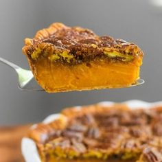 Bourbon Sweet Potato Pecan Pie | Dash of Jazz Sweet Potato Pecan Pie, Bourbon Sweet Potatoes, Mini Pecan Pies, Holiday Tables, Food To Make, Waffles, Jazz, Deserts, Thanksgiving