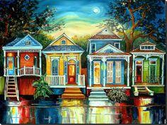 Big Easy Moon  New Orleans Art by Diane Millsap
