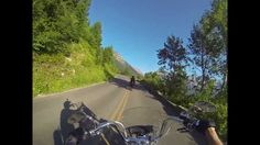 Harley ride in Glacier National Park (Going To The Sun Road)