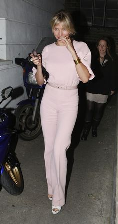 Cameron Diaz wearing Emilia Wickstead.  Simple and chic.
