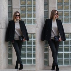 Fall Fashion #ootd #outfit #turtleneck #coat #streetstyle #mystyle #look #fashionblogger #blogger #style #ankleboots #coatedtrousers
