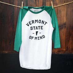 Image of Vermont State of Mind Baseball Tee