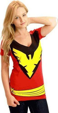 X-Men Phoenix Deep V-Neck T-Shirt