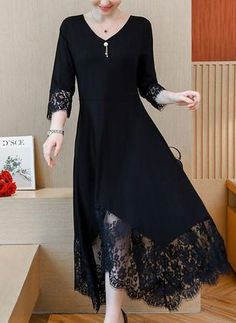 Shop Floryday for affordable Dresses. Floryday offers latest ladies' Dresses collections to fit every occasion. Evening Dresses With Sleeves, Maxi Dress With Sleeves, Lace Dress, Women's Fashion Dresses, Dress Outfits, Elegant Midi Dresses, Vestido Casual, Affordable Dresses, Frack