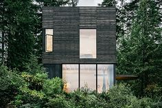 Set off the Puget Sound fjord and surrounded by forest, the Hood Canal Cabin takes advantage of its picturesque location with a vertical design. Built atop an existing 20 square foot foundation, it's clad in black cedar, with a contrasting...