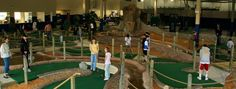 Play 18 holes of miniature golf and enjoy the waterfall and stream that run through the course.  Laser Tag, batting cages, gym, arcade.