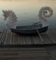 A seahorse boat.