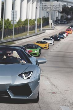 Its a rainbow of delicious horsepower and styling!