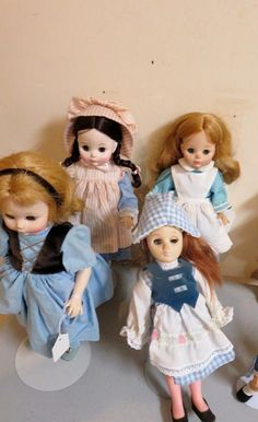 Madame Alexander dolls, Effibee dolls, Hand painted Japanese tea service set, early vases. All in good condition