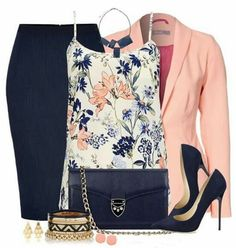 Blazer and ring and camisole and earrings