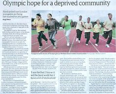 Olympic hope for deprived community