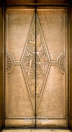 Art Deco Elevator Doors, Los Angeles - @~ Mlle