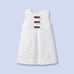 Floral print pinafore dress for baby, girl