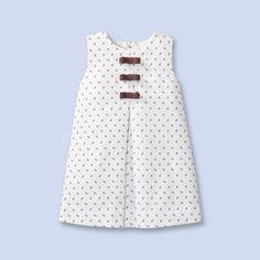 Jacadi floral print pinafore dress.