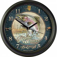 American Expedition Vintage Ripplin Waters Lodge Clock