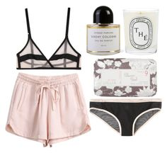 """""""Sundays"""" by i-nsouciante ❤ liked on Polyvore featuring Yasmine eslami, Lollia, Aubin & Wills, Byredo and Diptyque"""