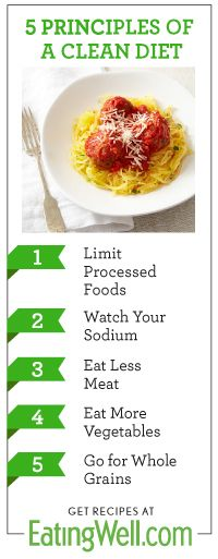 5 Principles of a Clean Diet from EatingWell's Clean up Your Diet Pin & Win Contest #pinwin